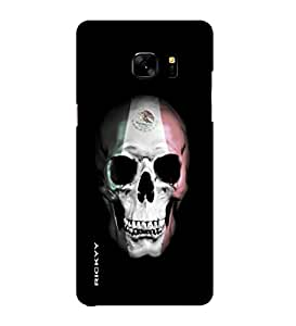 RICKYY _Note7_1339 Printed Matte designer White and Red Skull case for Samsung Note 7