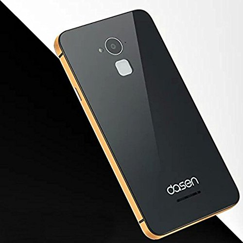 brand new bbfab 95acb Luxury Glass Back Coolpad Note 3 Aluminium Side Panel Battery Injection  Back Case Cover - Black and Gold