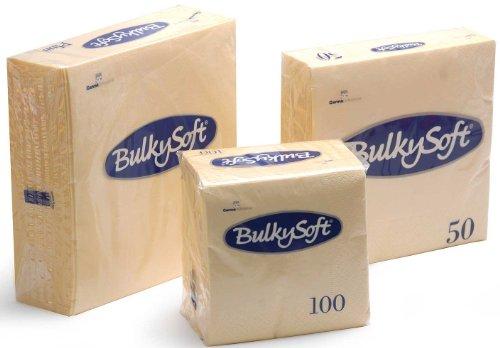 100 x 2ply Champagne/Buttermilk Colour Paper Napkins Serviettes 33cm