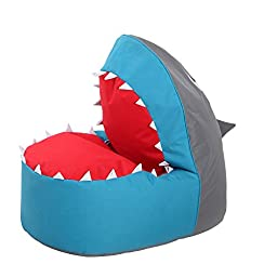 OLizee® Creative Shark Bean Bag Chair for Kids Lovely Tatami Oxford Fabric Cartoon Lazy Sofa, 37.4 X 26.7 X 34.2\