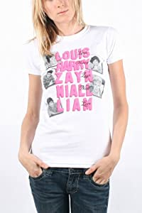One Direction - Womens Pink Names T-shirt In White