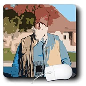 3dRose LLC 8 x 8 x 0.25 A Dutch Costume on a Man with a White Beard and Hat Mouse Pad (mp_80199_1)
