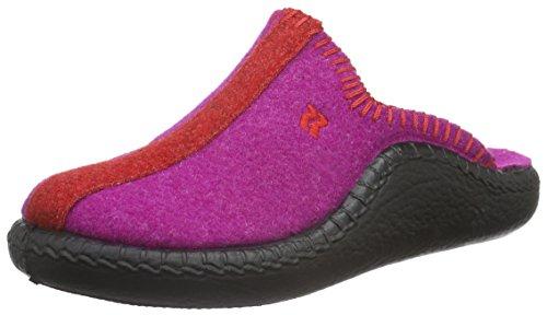 RomikaMokasso 62 - Ciabatte non imbottite Unisex - Bambini , Rosa (Pink (Fuchsia-Rot 491)), 33