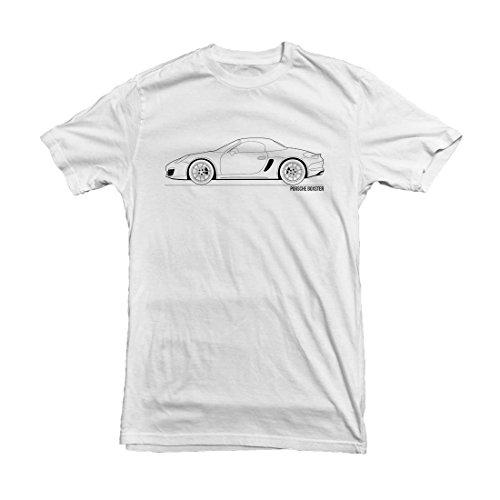 porsche-boxster-outline-t-shirt-size-m-white
