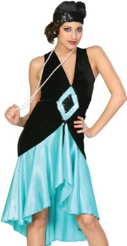 [20s Style Puttin on the Ritz (teal) Adult Costume Size 6-8 Small] (Puttin On The Ritz Costumes)