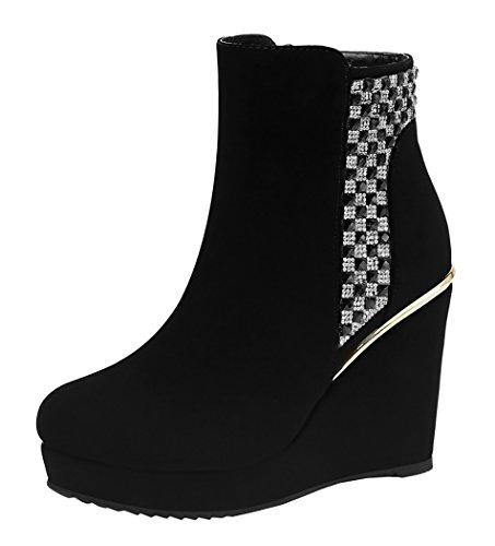 Guciheaven Women Winter New Style CZ Diamond Wedge Heel