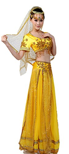 Chinese Sinkiang Indian Belly Dance Dress National Costumes