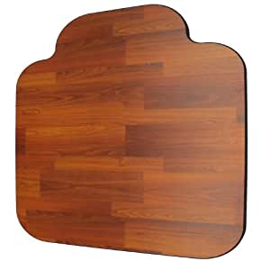 Amazon Laminate Chair Mat Walnut 46x46 withSingle