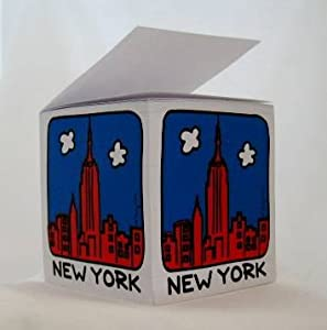 New York Skyline Souvenir Desk Note Pad Memo Note Cube