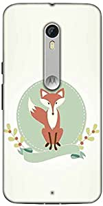 Snoogg A Fox Designer Protective Back Case Cover For Motorola Moto X Style