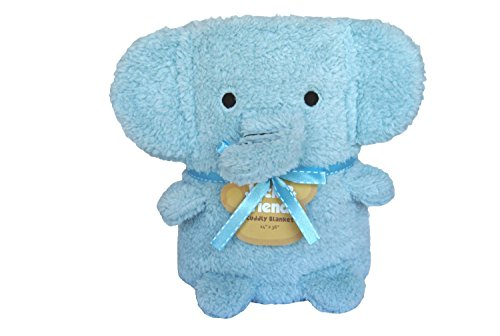 Baby Toddler Animal Blanket Plush Blanket 3-in-1 (Blue Elephant)