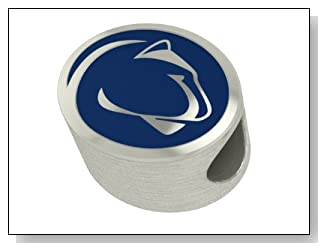 Penn State Nittany Lions College Bead Charm Fits Most European Style Bracelets Including Chamilia and More. Highest Quality Bead Available in Stock for Fast Shipping