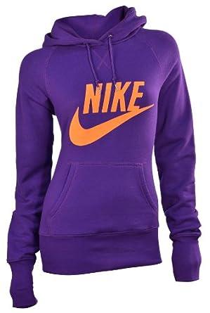 Nike Ladies Limitless Exploded Pullover Hoodie-Purple Orange by Nike