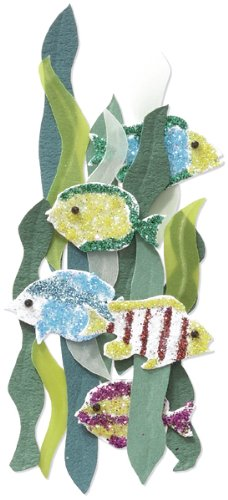 Jolee's By You Dimensional Sticker, Tropical Fish and Seaweed