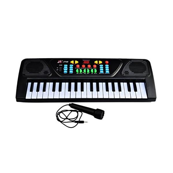 Piano for Children, Yamix Multi-function 37 Key Electronic Organ Music  Keyboard Small Electronic Keyboard Piano Organ Musical Teaching Keys  Keyboard