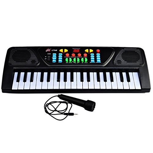 Piano-for-Children-Yamix-Multi-function-37-Key-Electronic-Organ-Music-Keyboard-Small-Electronic-Keyboard-Piano-Organ-Musical-Teaching-Keys-Keyboard-Toy-With-Microphone-For-Kids-Children-Gift