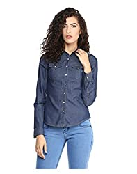 Yepme Women's Blue Cotton Shirts - YPMSHRT5016_S