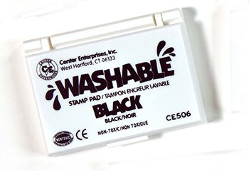 Stamp Pad Washable Black -- Case of 7