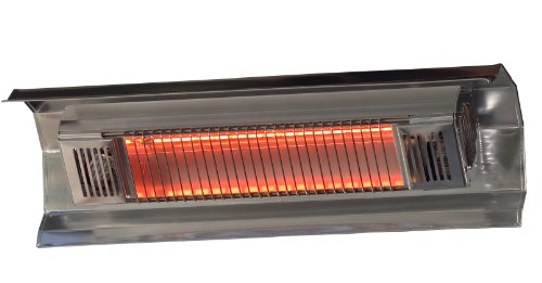 Fire Sense Indoor/Outdoor Wall-Mounted Infrared Heater, Stainless Steel (Electric Wall Mounted Heater compare prices)