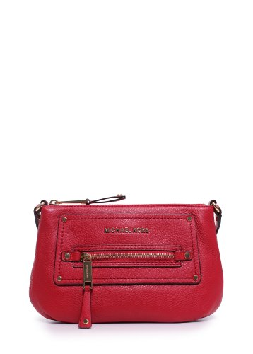Michael Kors Gilmore Pebbled Crossbody Red