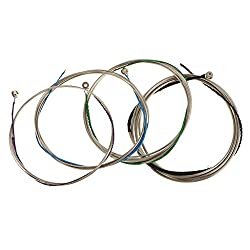 Generic KING LION Cello String Set German Silver C-G-D-A for Full Size 4/4