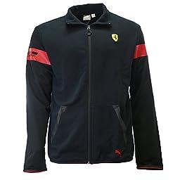 PUMA Men\'s SF Sweat Jacket, Black, XX-Large