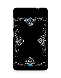 Amez designer printed 3d premium high quality back case cover for Microsoft Lumia 535 (Abstract Dark 33)