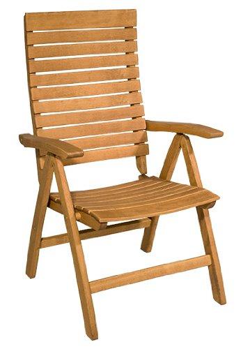 Gartenstuhl Tosca – Moderner Hochlehner aus Holz – braun lackiert – Qualität aus Deutschland günstig kaufen