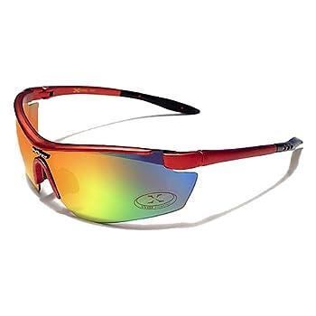 X-Loop Lunettes de Soleil - Sport - Cyclisme - Ski - Conduite - Moto - Plage / Mod. 3550 Rouge / Taille Unique Adulte / Protection 100% UV400