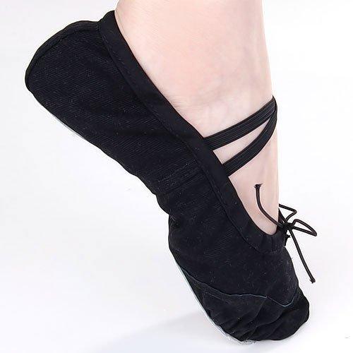 Black Canvas Dance Ballet Shoes For Toddler Girls Us Size 12 # (7 Inch) front-770466