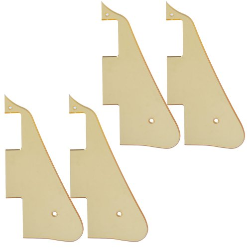4Pcs High Quality Gold Mirror Electric Guitar Pickguard For Gibson Les Paul Guitar Replacement