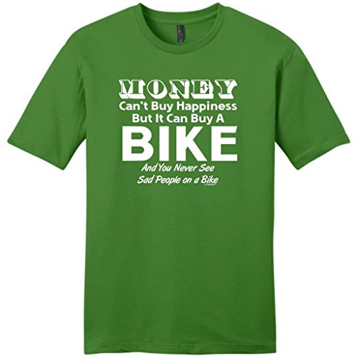 Money Can'T Buy Happiness But It Can Buy A Bike Young Mens T-Shirt X-Large Kiwi Green