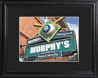 Seattle Mariners Personalized Pub Sign with Frame at Amazon.com