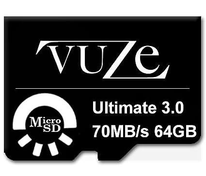 Vuze 64GB MicroSDHC Class 10 (70MB/s) Memory Card