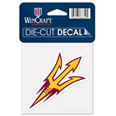 Buy Arizona State Sun Devils Official NCAA 4x4 Die Cut Car Decal by WinCraft