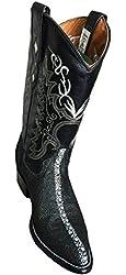 Western Men Genuine Leather Handmade Stingray Print Boots