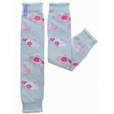Koi Baby Leg Warmers Pink Blue Huggalugs