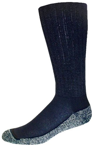 Diabetic Care Diabetic Care Crew Socks (Navy, X-Large)