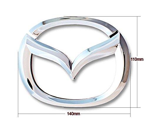 New Mazda front chrome mascot emblem autocollant 140x110 mm.