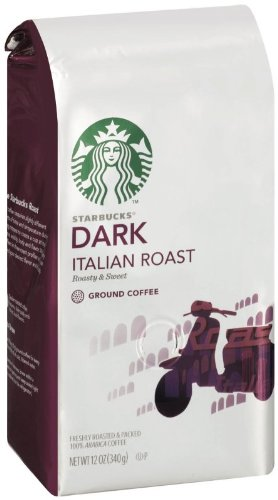 Starbucks Italian Roast Coffee (Extra Bold), Ground Coffee, 12-Ounce Bags (Pack of 3)