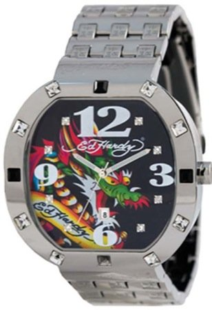 Ed Hardy Men's BN-DR Bandit Dragon Stainless Steel 316L Watch
