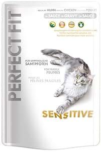 Perfect Fit Cat Sensitive Huhn in Sauce 12x85g Frischebeutel - Katzenfutter