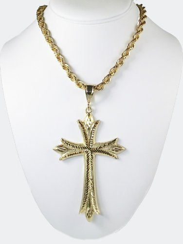 14k Gold Filled Extra Large Religious Cross. Includes 24