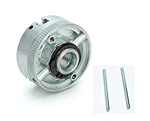 Three-Jaw Chuck,Clamping Diameter 1.8~56mm / 12~65mm,tread hole is M12X1, Z011 for mini lathe (Color: Silver)