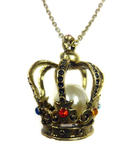 Tdz Royal Crown With Pearl Necklace
