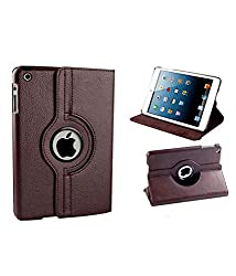 Micomy Premium 360 Degrees Rotating Smart Cover Stand Case for Apple iPad Mini 3 (Brown)
