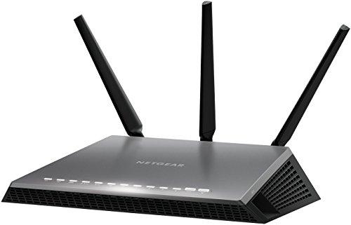 Netgear D7000-100PES AC1900 Mbps Nighthawk WiFi Modem Router, VDSL/ADSL/Fibra, 5 Porte Gigabit (1 Porta WAN), Processore Dual Core a 1 GHz, 3 Antenne Esterne, Giochi Online senza Interferenze, Nero