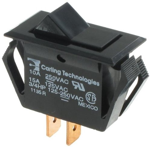 Rocker Switches SPST ON-NONE-OFF BLK (1 piece)