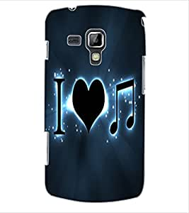 ColourCraft Love Quote Design Back Case Cover for SAMSUNG GALAXY S DUOS S7562