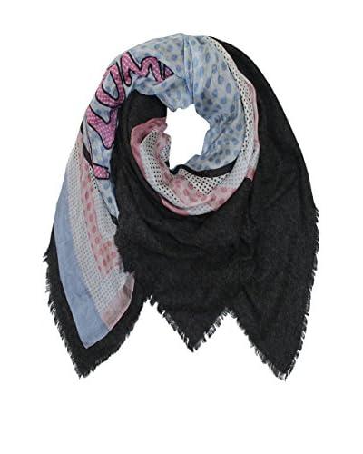Plomo o Plata Fular Negro / Azul